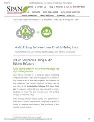 Audio Editing Software User List _ Customers Email Addresses _ Mailing Database