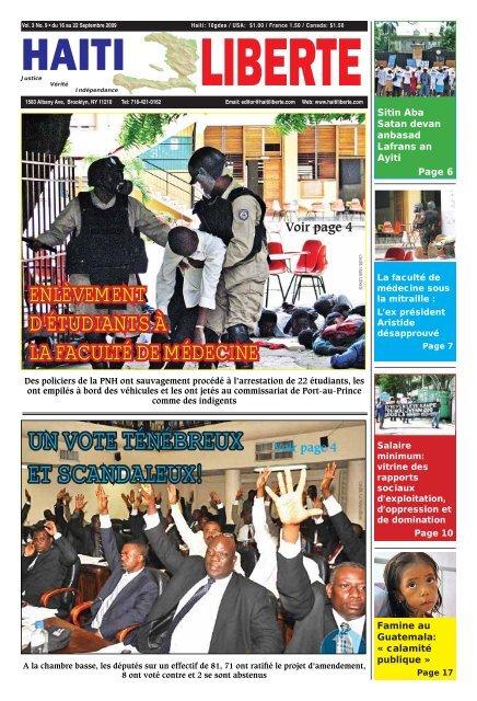 Haiti Liberte 16 Septembre 2009