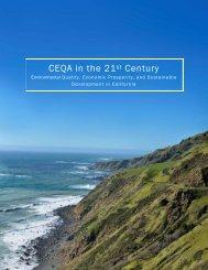 CEQA in the 21 Century