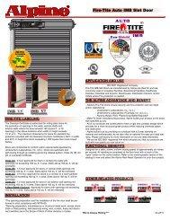 Fire-Tite Auto IMB Slat Door - Alpine Door