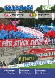 neunzehn54, Doppelausgabe RW Ahlen-SV Straelen. Heft 3, Saison 2016/17