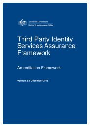 Third Party Identity Services Assurance Framework