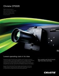 Christie CP2220 Datasheet - Christie Digital Systems