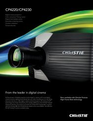 CP4220/CP4230 - Christie Digital Systems