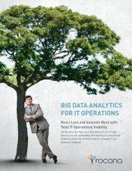 BIG DATA ANALYTICS FOR IT OPERATIONS