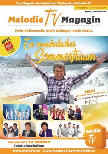 Melodie TV Magazin 08 09 2016 32 seitig