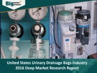 United States Urinary Drainage Bags Industry: Detailed Analysis & Research Report 2016