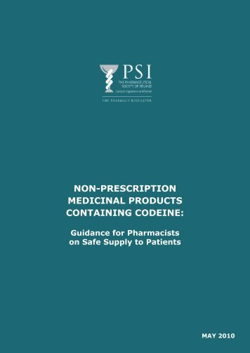 Codeine Guidelines.indd - Pharmaceutical Society of Ireland