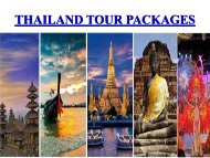 Most visited Places to Thailand tour Packages