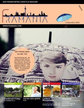 Framania Ausgabe September  2016