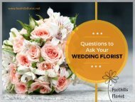 Questions to Ask Your Calgary Wedding Florists