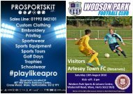 Arlesey Town 13-8-16