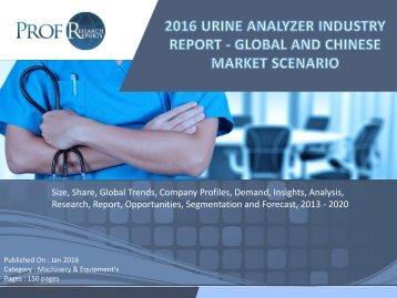 2016 URINE ANALYZER INDUSTRY REPORT - GLOBAL AND CHINESE MARKET SCENARIO
