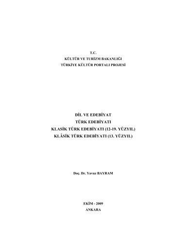 2.3.klasik-türk-edebiyatı-(XII-XIX.yüzyıl)-2.3.1.klasik-türk-edebiyatı-(XIII.yüzyıl)