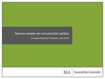 Nuevos canales de comunicación política
