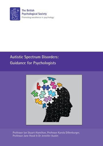 Autistic Spectrum Disorders Guidance for Psychologists