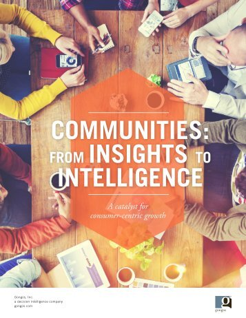 Communities: From Insights to Intelligence