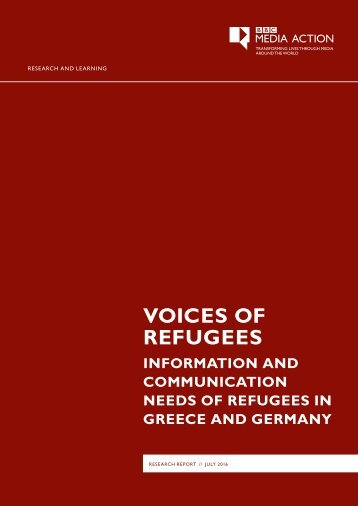 VOICES OF REFUGEES