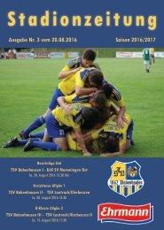 201600820 Stadionzeitung TSV Babenhausen - DJK SV Memmingen Ost