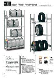 Reifenregale - Stecksystem