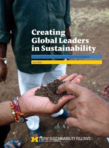Creating Global Leaders in Sustainability