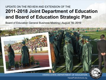 2011-2018 Joint Department of Education and Board of Education Strategic Plan