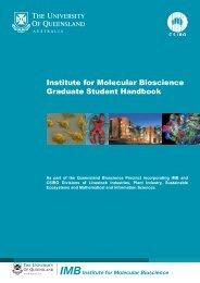 IMBInstitute for Molecular Bioscience - Institute for Molecular ...