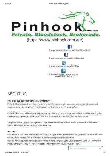 About Us _ Pinhook Bloodstock