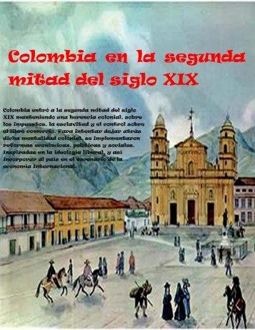 colombia en la segunda mitad del siglo XIX