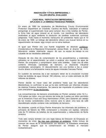 TALLER EVALUADO - CASO PERRIER