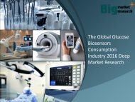 Global Glucose Biosensors Consumption Industry 2016 Research & Opportunities