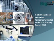 Global Cone Beam Computed Tomography Market Trends & Strategies 2016