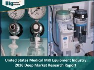 Research Report on United States Medical MRI Equipment Industry - Size, Share, Trends, Demand, Opportunities and Forecast 2016