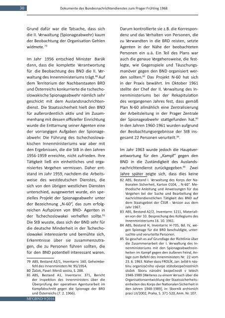 Spolková zpravodajská služba a pražské jaro 1968