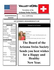 The Board of the Arizona Swiss Society Sends you best wishes for a ...