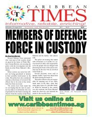 Caribbean Times 73rd Issue Wednesday 17th August 2016