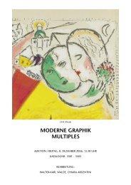 MODERNE GRAPHIK MULTIPLES - Koller Auktionen