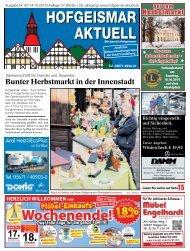 Hofgeismar Aktuell 2015 KW 42
