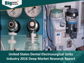 United States Dental Electrosurgical Units Industry: Detailed Analysis & Research Report 2016