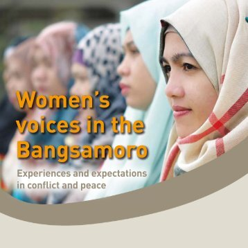 Women's voices in the Bangsamoro