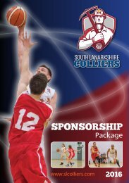 SL Colliers Basketball Club Sponsorship Package 2016