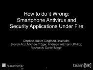 How to do it Wrong Smartphone Antivirus and Security Applications Under Fire