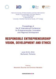 RESPONSIBLE ENTREPRENEURSHIP VISION DEVELOPMENT AND ETHICS
