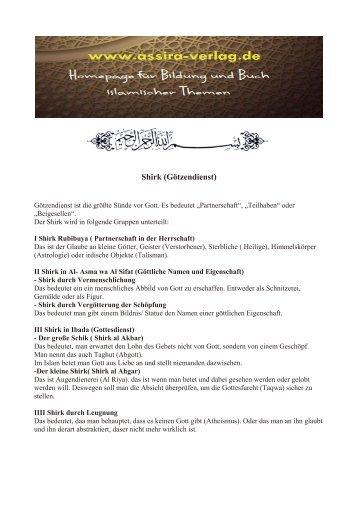 Shirk (Götzendienst) www.assira-verlag.de