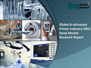 Global B-ultrasonic Printer Industry 2016 Analysis & Strategies