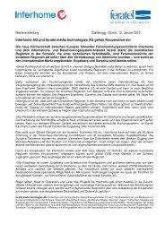 Interhome AG und feratel media technologies AG gehen ...