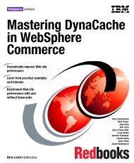 Mastering DynaCache in WebSphere Commerce - IBM Redbooks