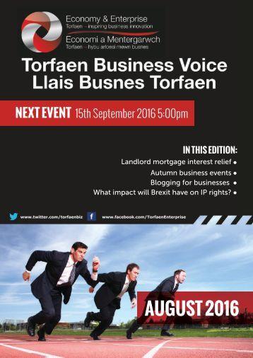 TBV Newsletter August 2016