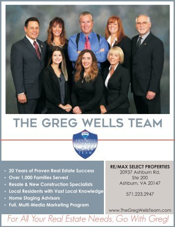 The Greg Wells Team Pre-Listing Package