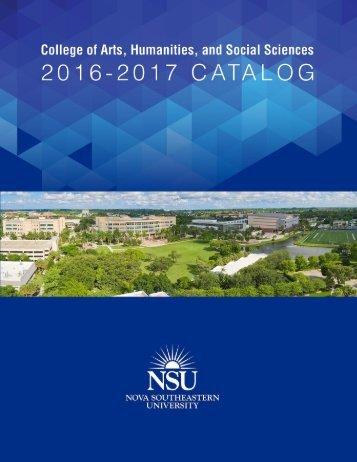 2016 2017 CAHSS Catalog_Final